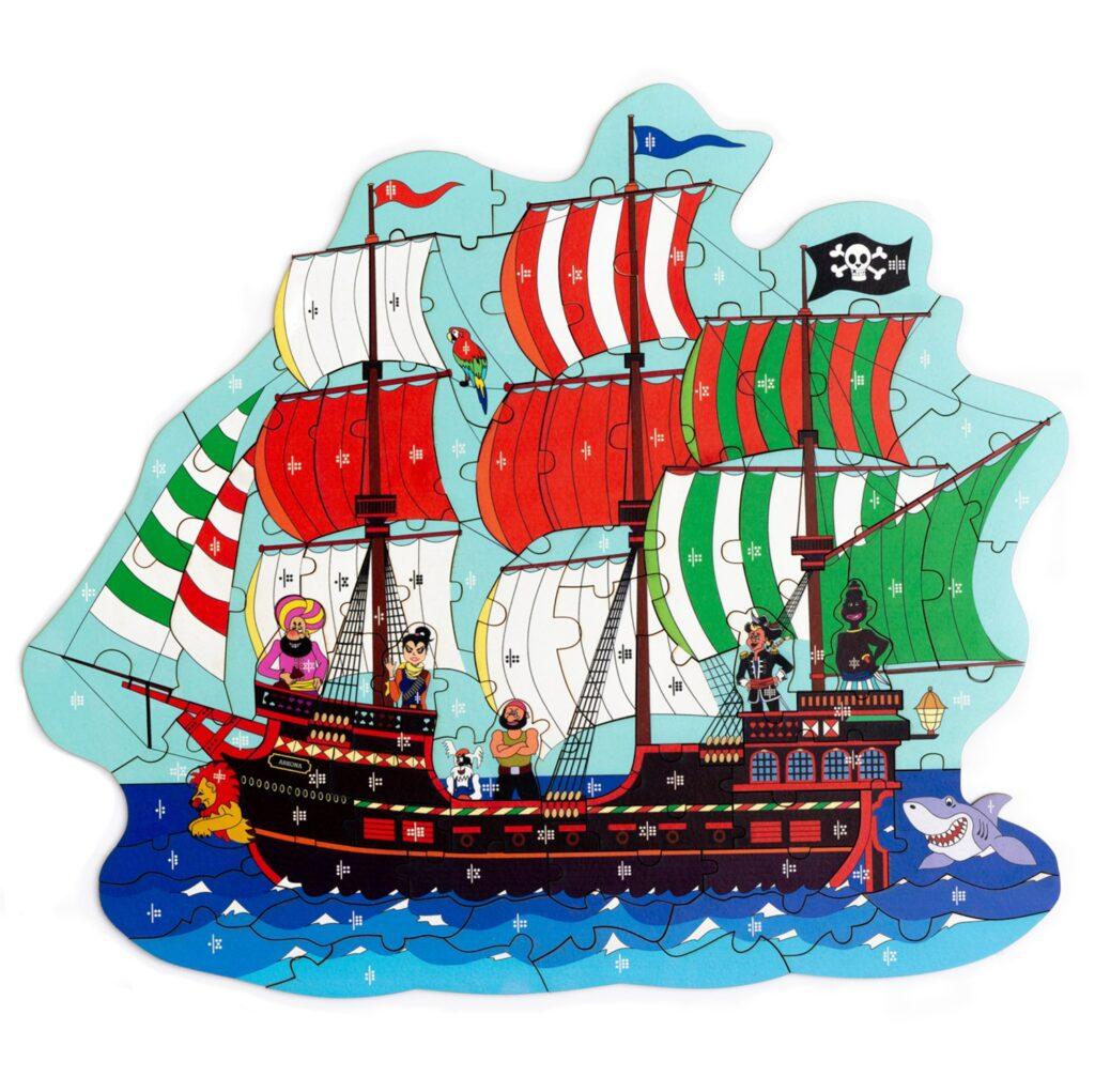 Puzzlespiel Piratenschiff für Kinder von Fragmentis
