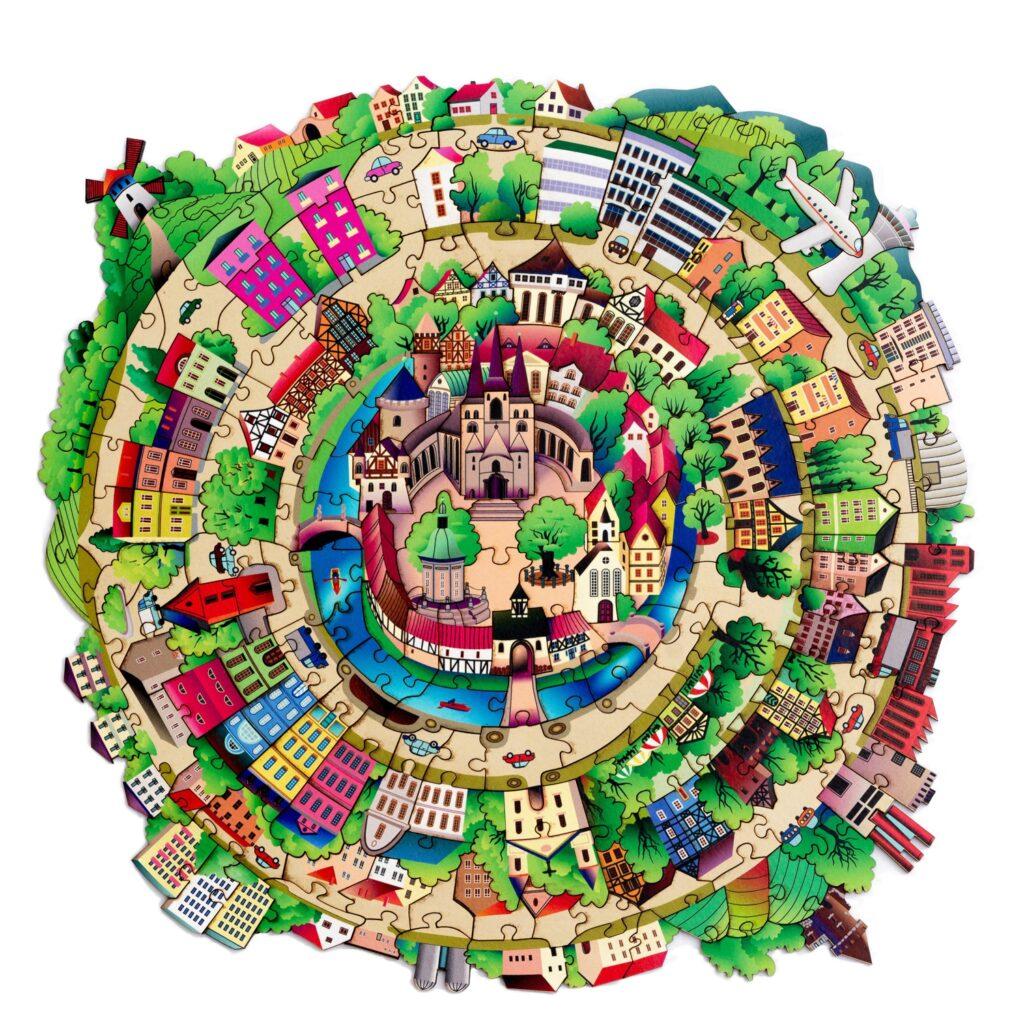Holzpuzzle City für Erwachsene Gesamtansicht