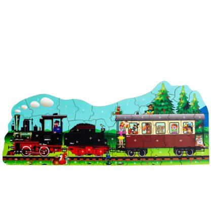 Puzzlespiel Dampflokomotive für Kinder von Fragmentis