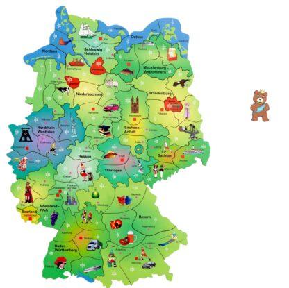 Puzzlespiel Deutschlandkarte Kinder Fragmentis