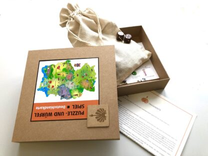 Holzpuzzle Fragmentis Deutschlandkarte Verpackung