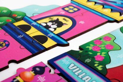 Villa Bäumchen Puzzle und Würfelspiel für Kinder ab 8 Jahren