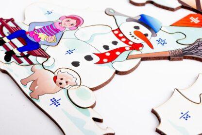 Weihnachtsmarkt Puzzle und Würfelspiel für Kinder ab 10 Jahren