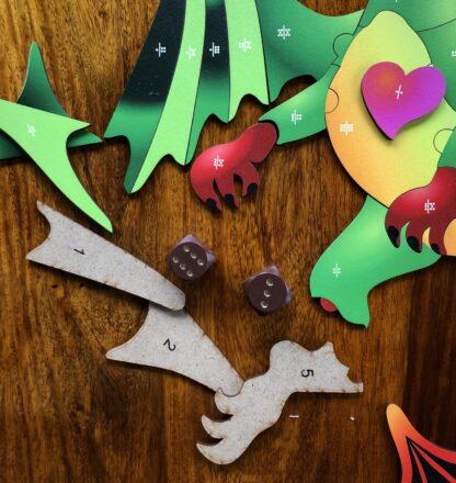 Drache Puzzle und Würfelspiel für Kinder