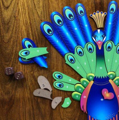 Pfau Puzzle und Würfelspiel für Kinder ab 8 Jahren
