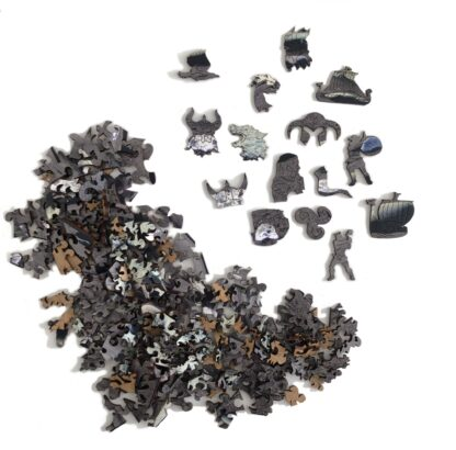 Holzpuzzle Diamantstrand alle Teile Ansicht Shop