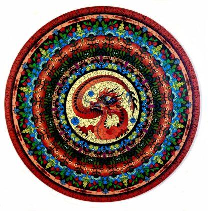 Holzpuzzle für Erwachsene Mandala Drache von Fragmentis