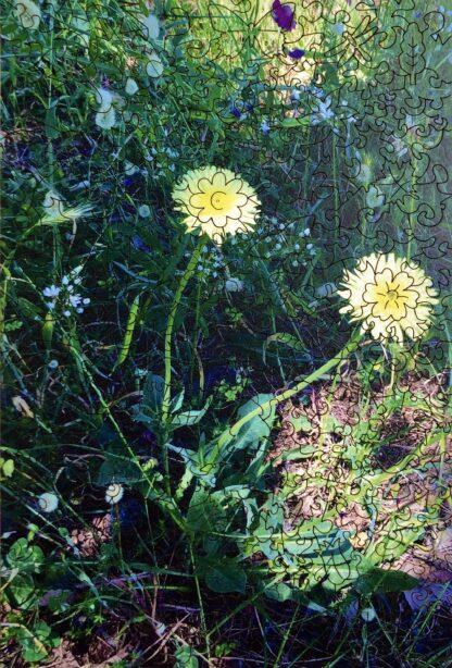 Holzpuzzle Wildblumenwiese auf Capri von Fragmentis mit Schnitt