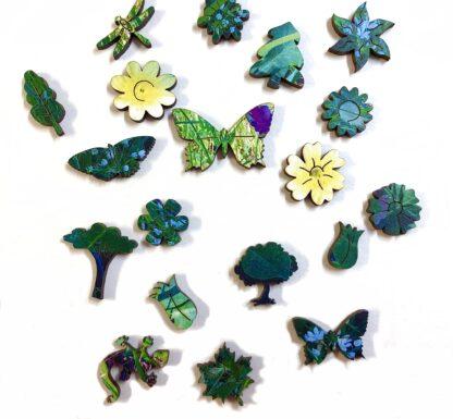 Holzpuzzle Wildblumenwiese auf Capri von Fragmentis Whimsy-Teile