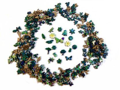 Holzpuzzle Wildblumenwiese auf Capri von Fragmentis alle Teile