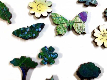 Holzpuzzle Wildblumenwiese auf Capri von Fragmentis Detail