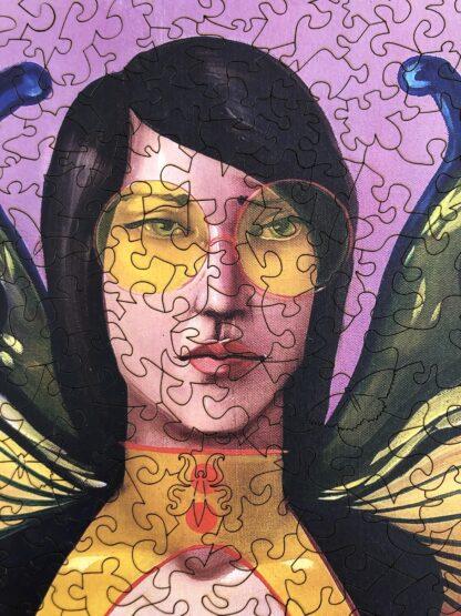 Butterfly Holzpuzzle für Erwachsene Fragmentis Detail Kopf