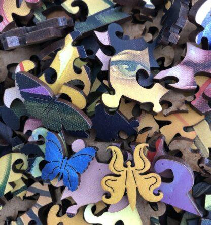 Butterfly Holzpuzzle für Erwachsene von Fragmentis Detail Puzzleteile