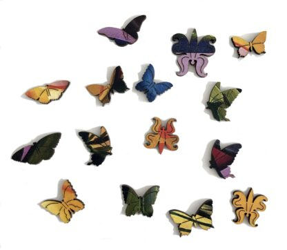 Butterfly Holzpuzzle für Erwachsene von Fragmentis Whimsy-Teile