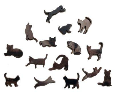 Holzpuzzle Ragnar von Fragmentis Whimsy-Teile Katzen
