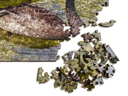 Black Beauties Holzpuzzle für Erwachsene von Fragmentis Detail Puzzleteile nah