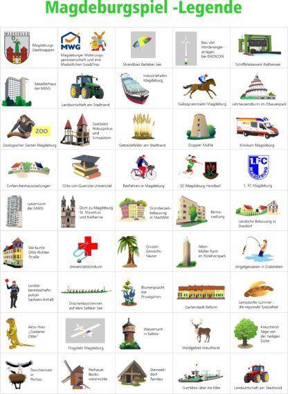 Puzzle und Würfelspiel Magdeburg für Kinder von Fragmentis Legende