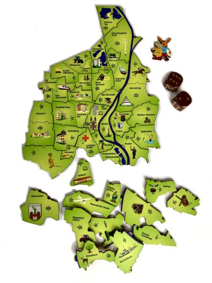 Puzzel und Würfelspiel Magdeburg für Kinder von Fragmentis Ansicht mit Teilen